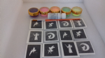 Fairy mini themed glitter tattoo set including 30 stencils + 5 glitter colours + glue fairies godmother Tinkerbell